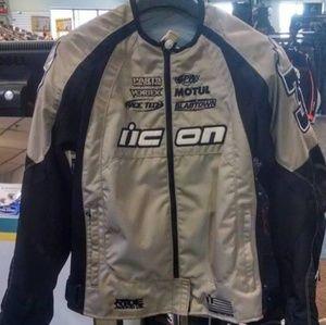 Icon Moto Icon Merc Stage 2 Women's Jacket Khaki